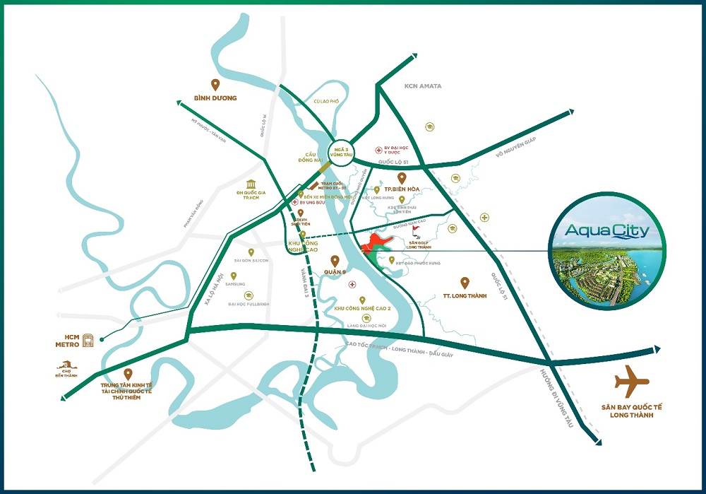 Aqua City kết nối mọi tiện ích