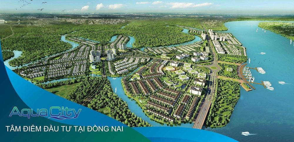 Phối cảnh tổng thể dự án khu đô thị Aqua City Đồng Nai