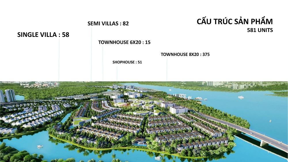 cấu trúc sản phẩm tại Aqua City Biên Hòa, Đồng Nai
