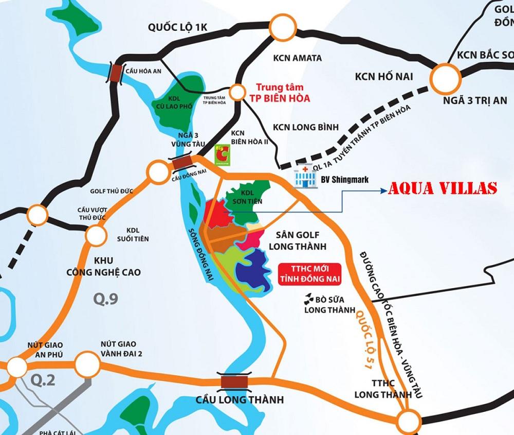liên kết vùng tại aqua city novaland đồng nai